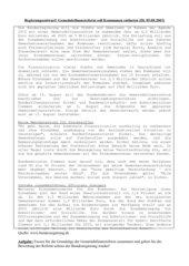 Gemeindefinanzreform - Position der Bundesregierung
