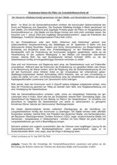 Gemeindefinanzreform - Position der Vertreter von Städten und Gemeinden