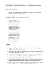 Klausur Schubert Winterreise Wirtshaus