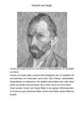 Vincent Van Gogh Unterrichtsmaterial Grundschule,