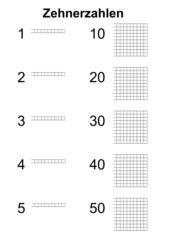 10er Zahlen Mengenbilder anmalen