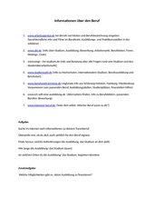 Informationen über Berufe