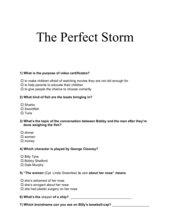 Klasse 10 English G 2000 B6 Unit 3 Perfect Storm Questions