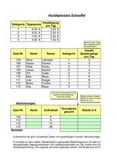 Aufgabe Excel zum sverweis in Dateiform