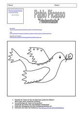 4teachers  Friedenstaube von Pablo Picasso