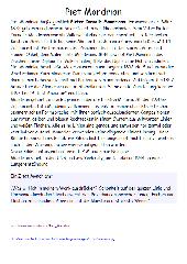 Infotext zu Piet Mondrian