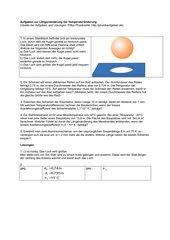 Aufgaben zur Längenänderung bei Temperaturänderung