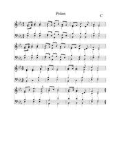 Polen Nationalhymne  vierstimmiger Satz