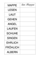 Gruppenarbeit zu Nomen Verben Adjektive