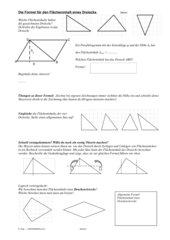 Flächeninhalt des Dreiecks selbst erarbeiten