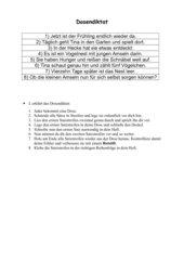 Dosendiktat (Frühlingstext) für Klasse 3
