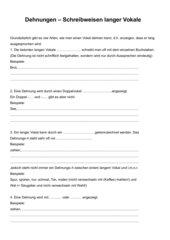 Merkblatt Dehnungen mit Beispielen (inkl. Lösung)