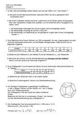 Test zur Statistik und Stochastik