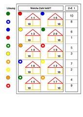 Logico - piccolo zur Addition Zehner / Einer bis 20