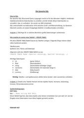 SQL - Einführung und erste Befehle