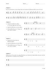 Rhythmen sprechen, aufschreiben und klopfen
