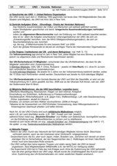 UNO - Infoblatt