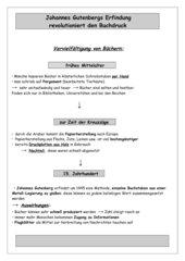 Arbeitsblatt/Tafelbild  Buchdruck
