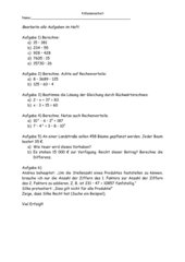 4. Klassenarbeit - 5. Klasse, NRW