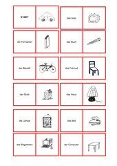 Berliner Platz 1 Lektion 3 Gegenstände-Domino