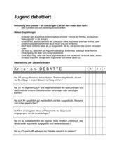 Debattieren - Beurteilung