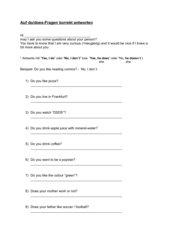 auf do/does-Fragen korrekt antworten