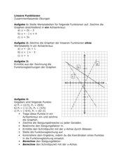 Lineare Funktionen 3