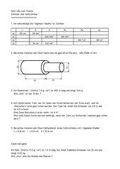 Test zu V und AO Zylinder