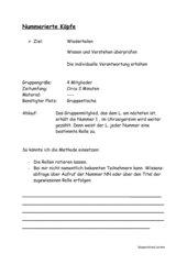 Kooperatives Lernen - Nummerierte Köpfe