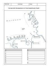Die deutsche Nordseeküste mit ihren bekanntesten Inseln