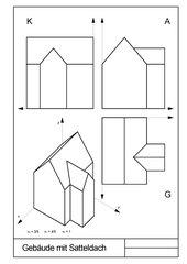 Gebäude mit Satteldach