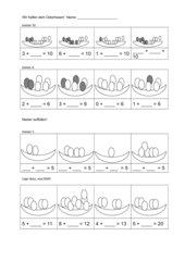 Osternester ergänzen (Klasse 1)