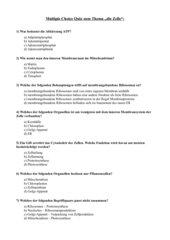 Multiple Choice Quiz Zellorganellen