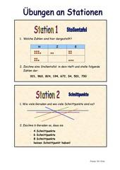 Arbeit an Stationen/ Rechenkartei