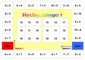 Bingospiel Addition/ Subtraktion bis 20