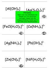 Karteikarten Komplexnamen und -formeln
