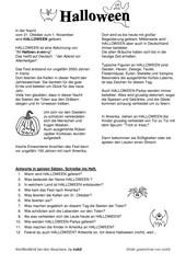 Halloween - Lesetext