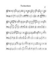 Tschechien Nationalhymne vierstimmiger Satz