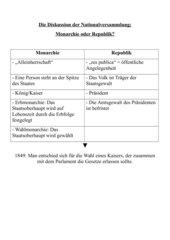 Folienvorlage: Monarchie oder Republik? - Die Diskussion der Nationalversammlung