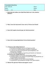 Hü über Verkehrsproblem ´Auto´ , FNP und Bebauungsplan