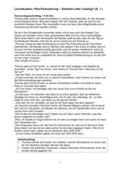 Lernsituation für Bankkaufleute - Darlehen / Leasing