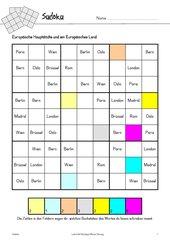 Sudoku mit Europäischen Hauptstädten