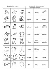 Clothes - 24 Wordcards