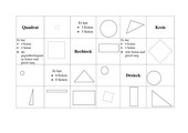 Zuordnungskarten zu den Formen Dreieck, Quadrat, Rechteck und Kreis