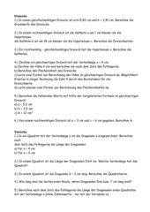 Verschiedene Aufgaben zu Pythagoras