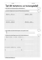 Test SRV Multiplikation und Rechenregelarbeit