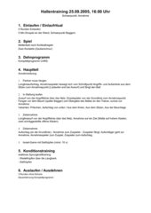 Volleyball Trainingsplanung (Verein) einer neu gegründeten Herrenmannschaft