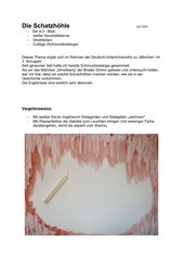 Die Schatzhöhle - Mischtechnik mit Collage