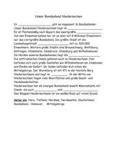Bundesland Niedersachsen