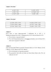 Multiplikation und Division von Dezimalzahlen